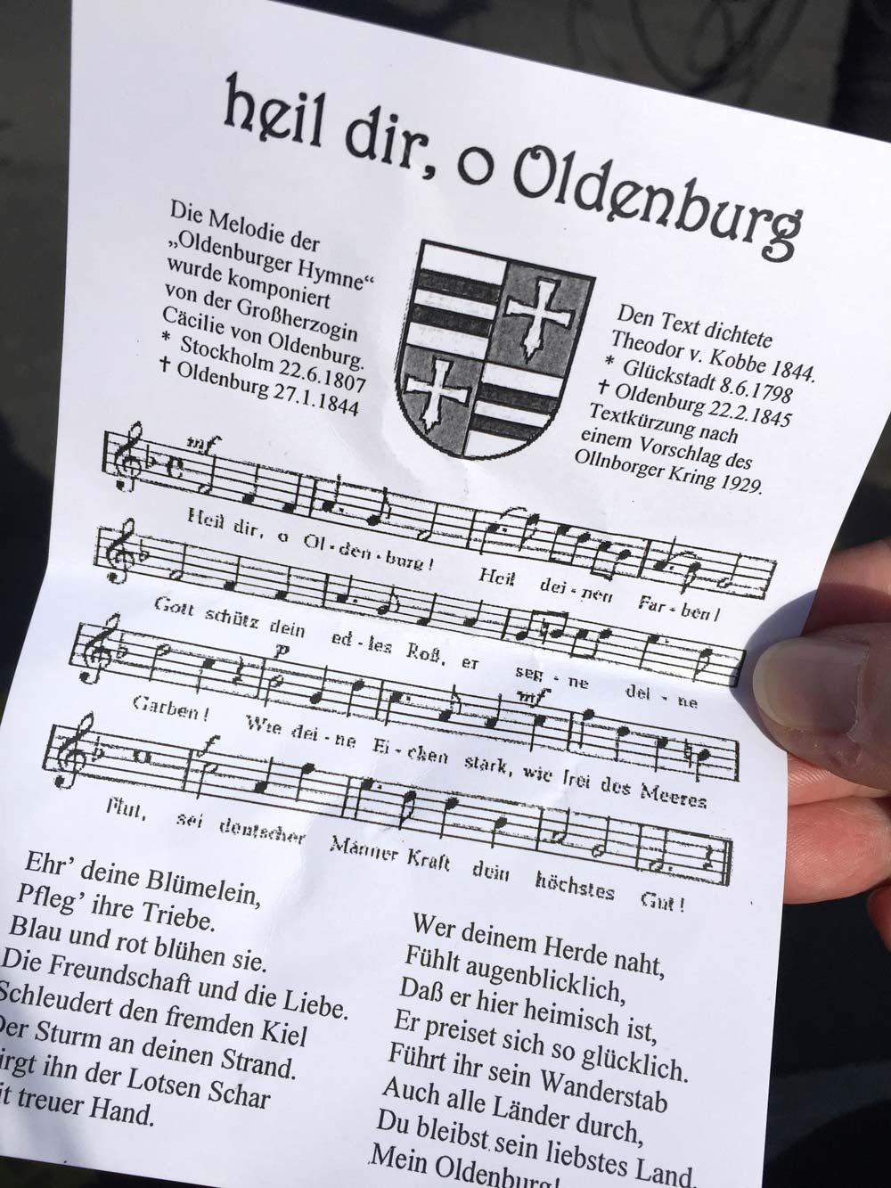 Oldenburg Hymne